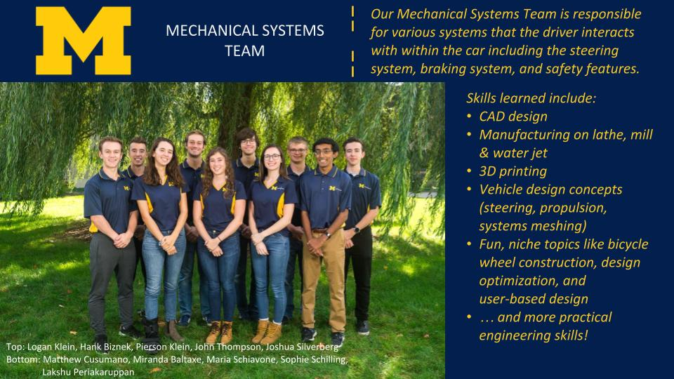 Mechanical Systems Team