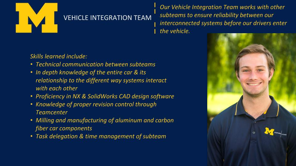 Vehicle Integration Team